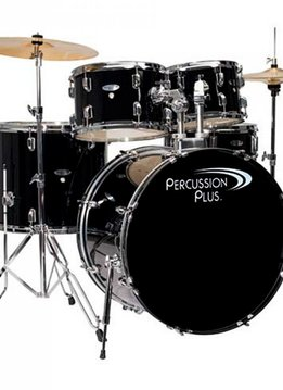 Percussion Plus Percussion Plus 5 Piece Drumset Complete - Black