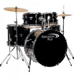 Percussion Plus Percussion Plus 5 Piece Drumset Complete - Black