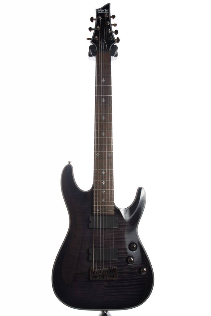 Schecter Schecter Damien Elite-7 String Guitar, Trans Black Burst