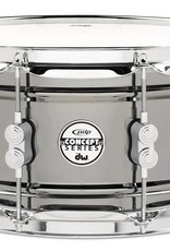 """PDP PDP 6.5"""" x 14"""" Black Nickel Over Brass Snare"""