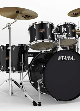 Tama Tama Imperial Star 5pc with Hardware and Cymbals, Hairline Black