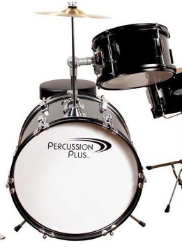 Percussion Plus 3 Piece Mini Drum Set - Black