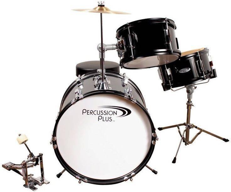 Percussion Plus Percussion Plus 3 Piece Mini Drum Set - Black