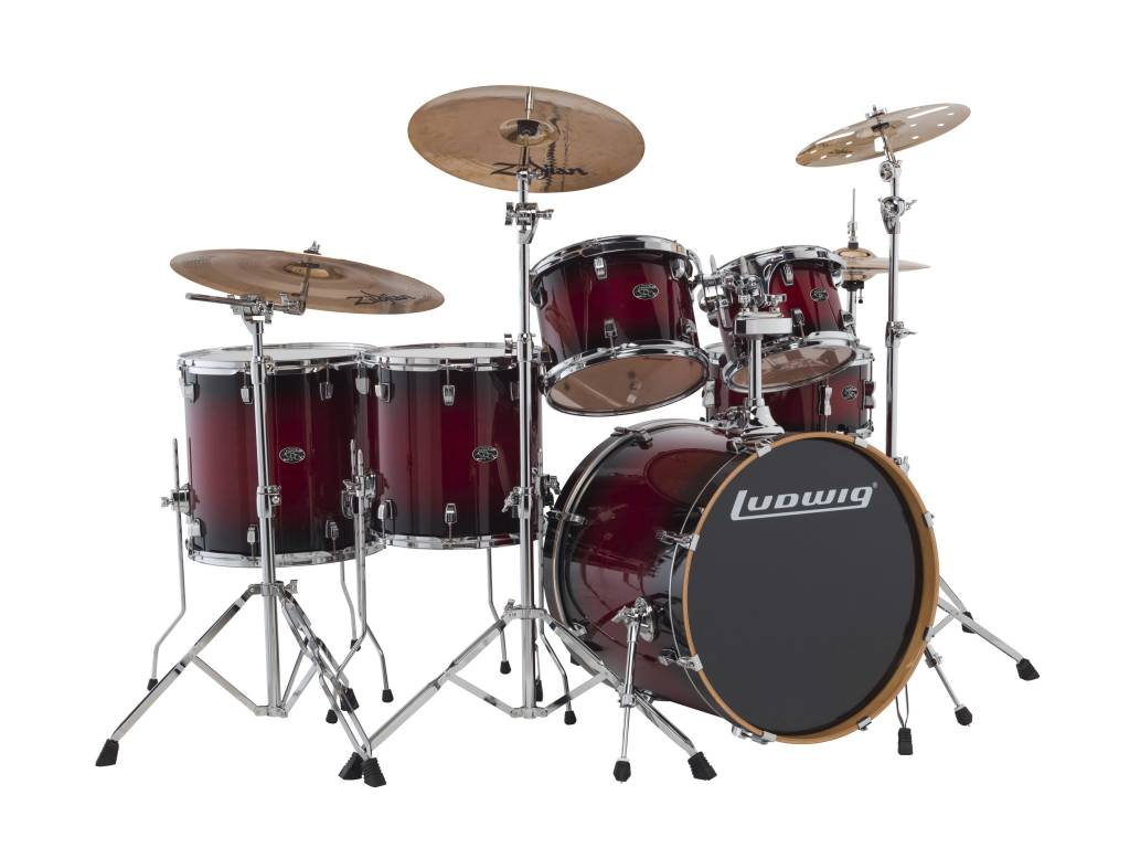 Ludwig Ludwig Evolution Maple Shell Pack - Red Burst