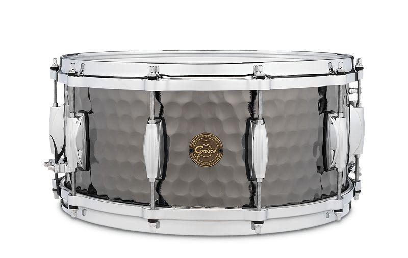 Gretsch Gretsch 8x14 Hammered Black Steel Snare Drum