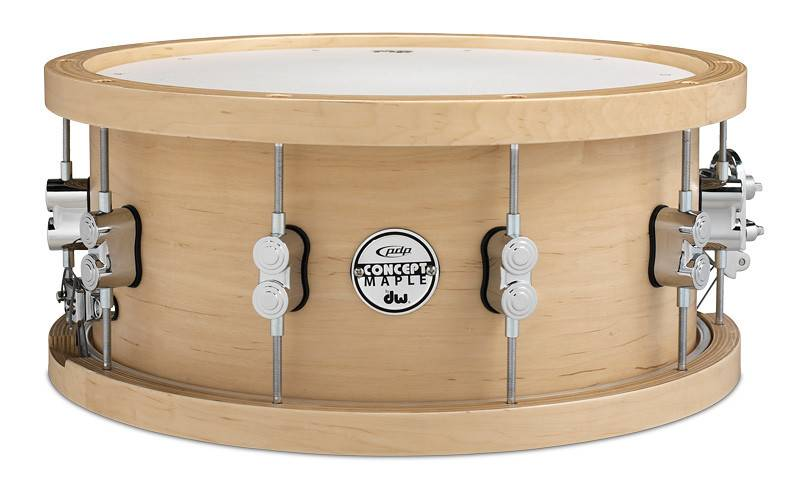 """PDP PDP Concept Series Wood Hoop Maple Snare - 6.5""""x14"""""""