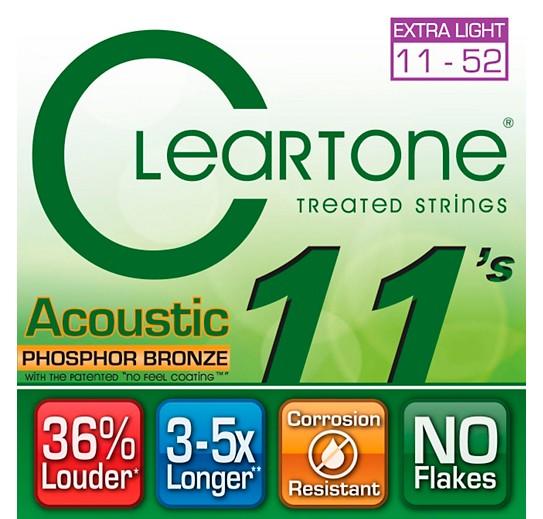 Cleartone Cleartone Phosphor Bronze Acoustic Strings .011-.052 Custom Light