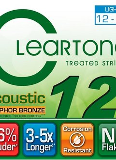 Cleartone Cleartone Phosphor Bronze Acoustic Strings Light 12-53