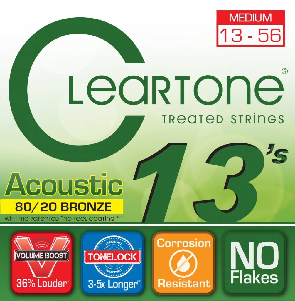 CLEARTONE Cleartone 80/20 Acoustic Strings 0.13-0.56 Medium