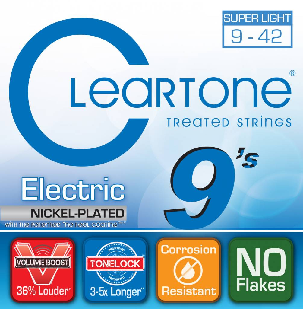 Cleartone Electric Strings  .09-.042 Super Light
