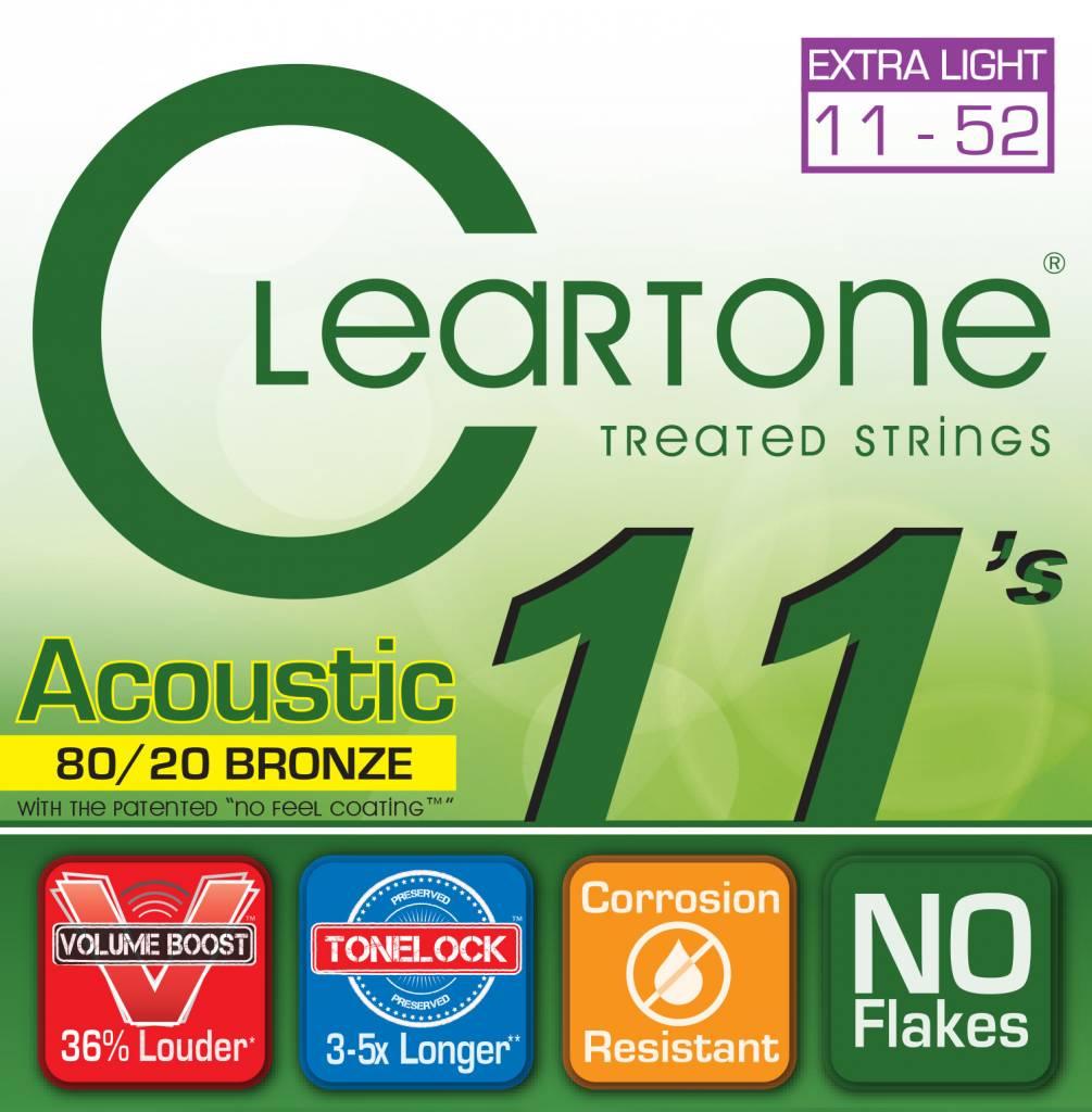 Cleartone 80/20 .011-.052 Custom Light Acoustic Strings