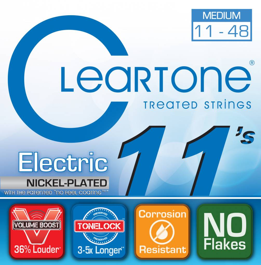 Cleartone Cleartone Electric 11-52 Strings - Medium