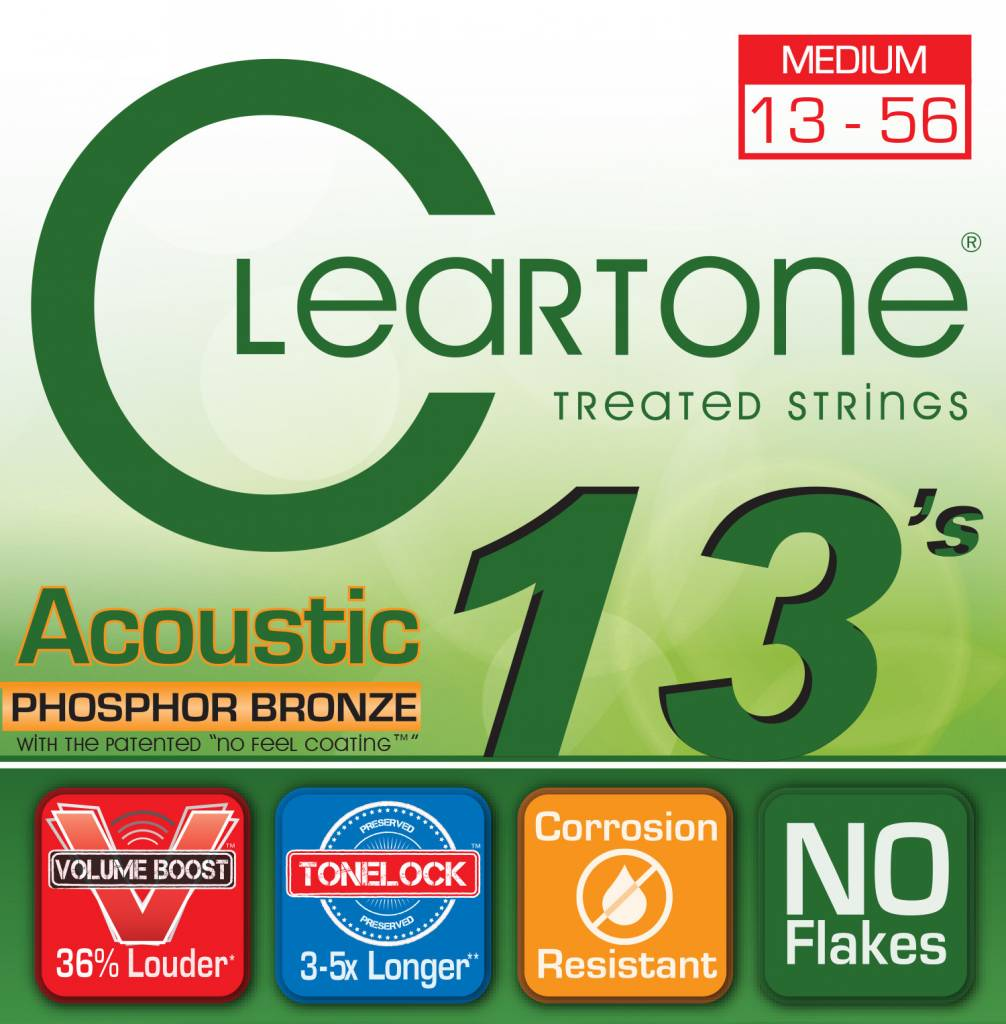 Cleartone Cleartone Phosphor Bronze Acoustic Strings .013-.056 Medium
