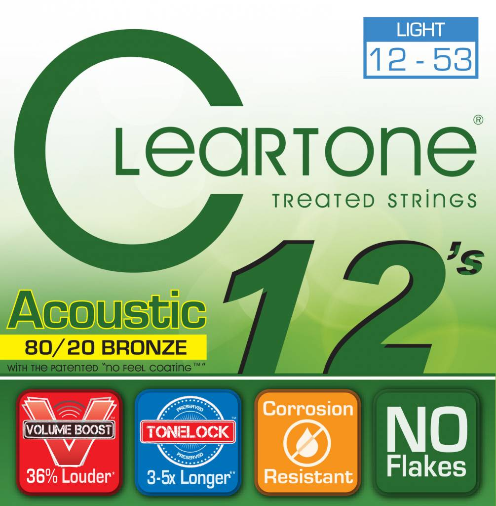 Cleartone Cleartone 80/20 Acoustic Strings .012-.053 Light
