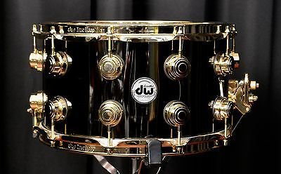 DW DW Black Nickel over Brass Collector's Series® Snare with Gold Hardware (8.5x14)
