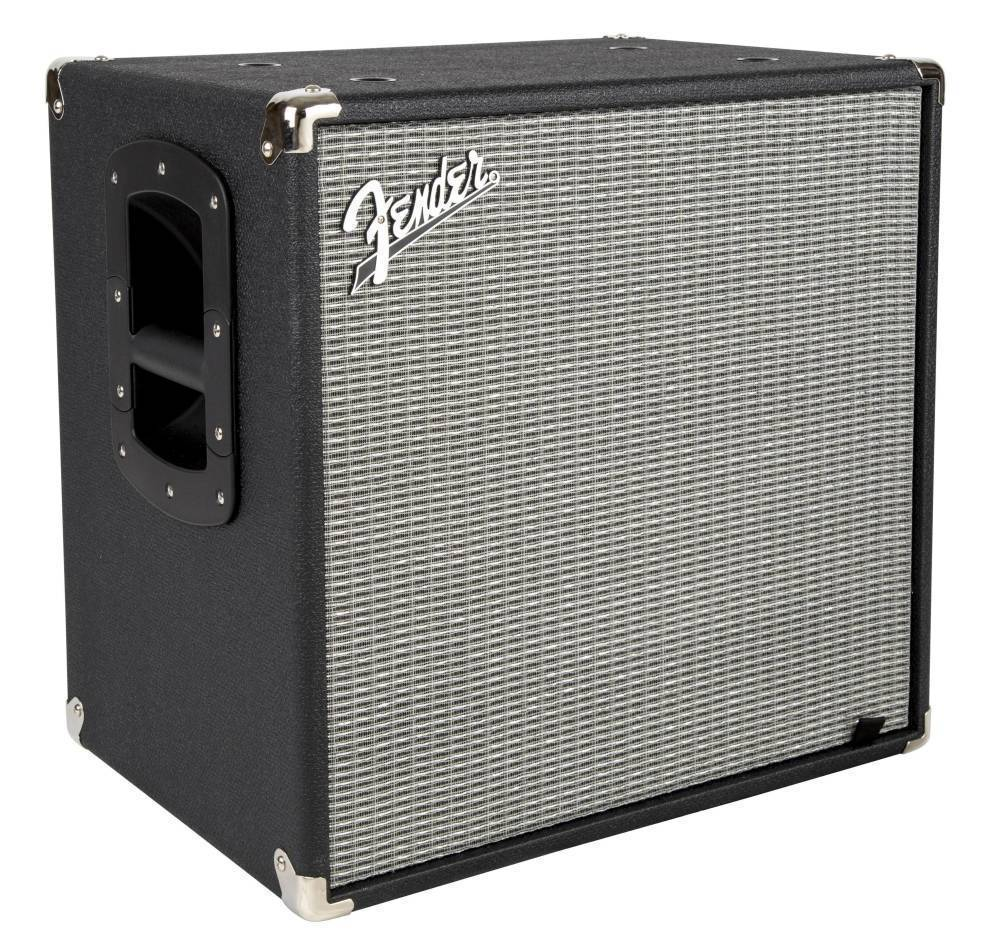 Fender Fender RumbleTM 112 Bass Speaker Cabinet, Black/Silver