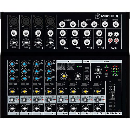 Mackie Mackie 12-Channel Compact Mixer w/ FX