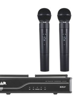 CAD Cad GXLVHHH VHF Wireless Dual Cardioid Dynamic Handheld Microphone System H Frequency Band