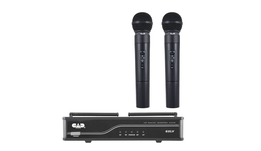 Cad GXLVHHH VHF Wireless Dual Cardioid Dynamic Handheld Microphone System H Frequency Band