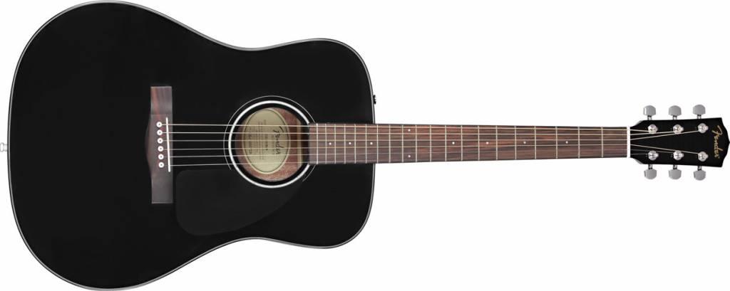Fender Fender CD-60 Acoustic, Black With Case