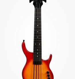 Kala Kala U-Bass, Fretted 4-String, Cherryburst With Bag