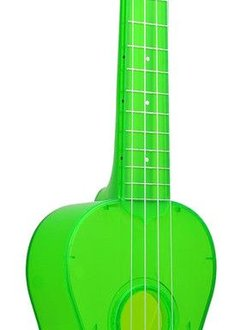 Kala Kala Waterman Soprano Ukulele, Flourescent Sour Apple Green