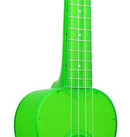 Kala Kala Waterman Soprano Ukelele, Flourescent Sour Apple Green