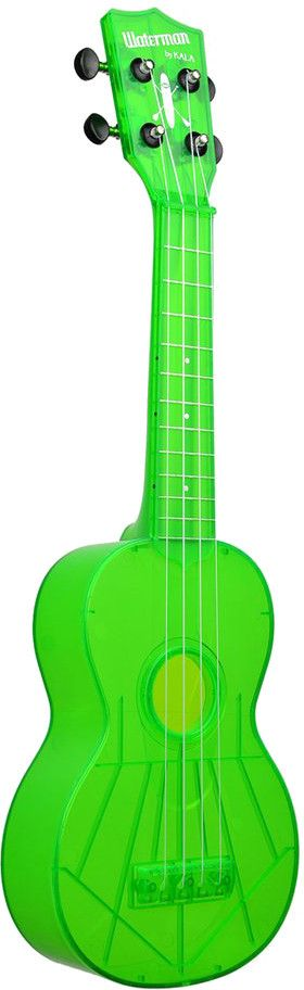 Kala Kala Waterman Soprano Ukelele, Flourescent Sour Apple Green