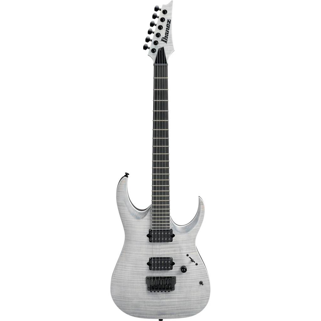 Ibanez Ibanez Iron Label RGAIX6FM Flame Maple/Mahogany Electric Guitar-White Frost Flat