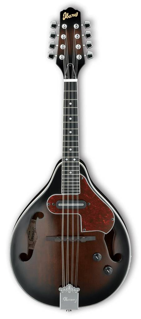 Ibanez Ibanez M510E A-Style Acoustic/Electric Mandolin, Dark Violin Sunburst High Gloss