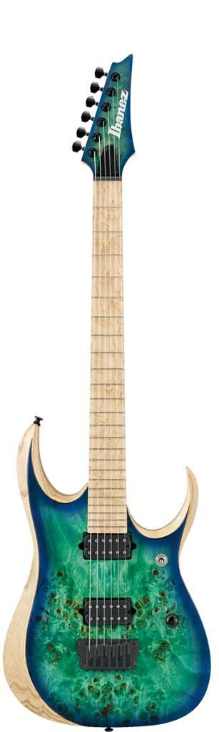 Ibanez Ibanez Iron Label RGDIX6PB Poplar Burl Top/Ash & Mahogany Electric Guitar-Surreal Black Burst