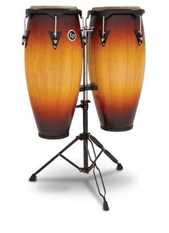 LP LP City Series Conga Set w/ Stand, Vintage Sunburst
