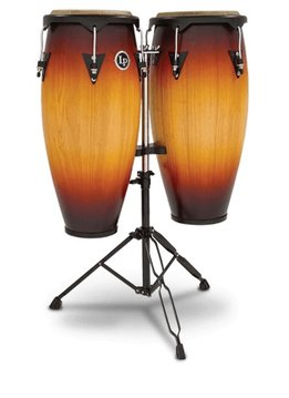 LP City Series Conga Set w/ Stand, Vintage Sunburst