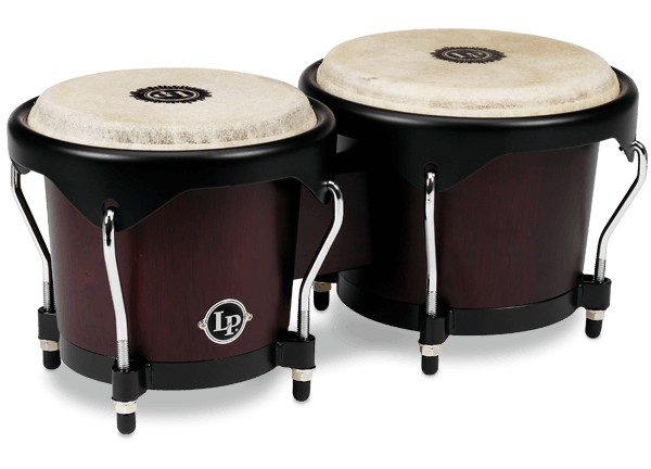 LP LP City Series Wood Bongos, Dark Wood