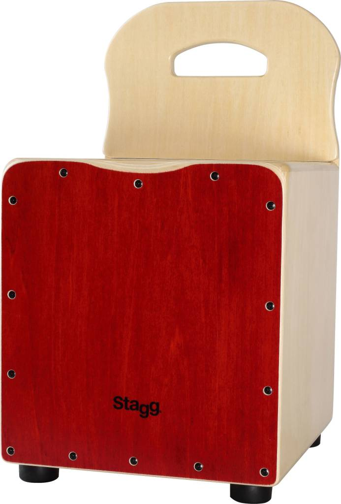 Stagg Kid Cajon, Red With Backrest