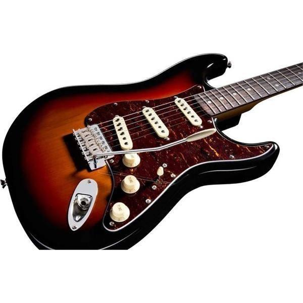 Fender Fender Upgraded* Standard Stratocaster® HSS, Rosewood Fingerboard, Brown Sunburst