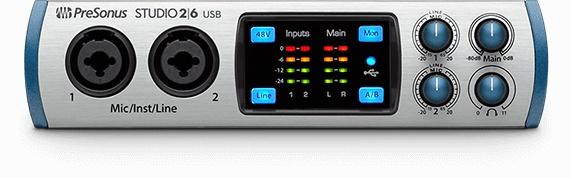 Presonus PreSonus Studio 2/6 2x4 USB 2.0 Audio/MIDI Interface