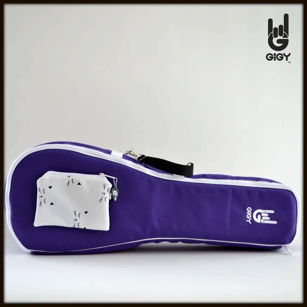 GiGY GiGY Concert Ukulele Gig Bag- Purple