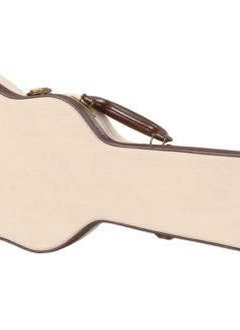 Gator Cases Gator Deluxe Wood Case for Tenor Style Ukulele; Journeyman Burlap Exterior