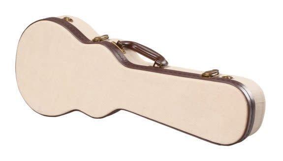 Gator Cases Gator Deluxe Wood Case for Concert Style Ukulele; Journeyman Burlap Exterior