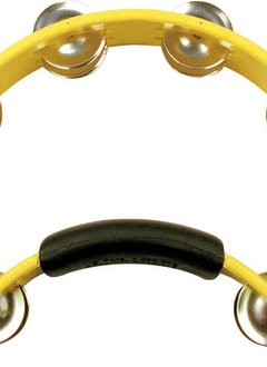 RhythmTech Rhythm Tech Tambourine, Yellow, Double Row with Nickel Jingles