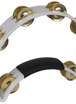RhythmTech Rhythm Tech Tambourine, White w/ Brass Jingles