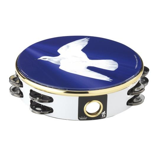 """Remo Remo 8"""" Tambourine - Dove Graphics"""