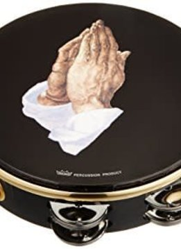 "Remo Remo 8"" Double Row Tambourine, Praying Hands"