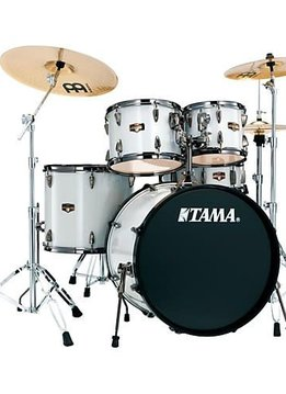 Tama Tama Imperial Star 5pc with Hardware and Cymbals, Hairline White Sparkle