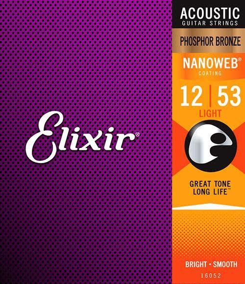 Elixir Elixir Nanoweb Acoustic Phosphor Bronze,  Medium 13-56