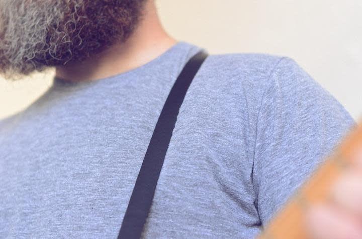 Fuzz Original Fuzz Skinny Leather Strap - Blue, Medium