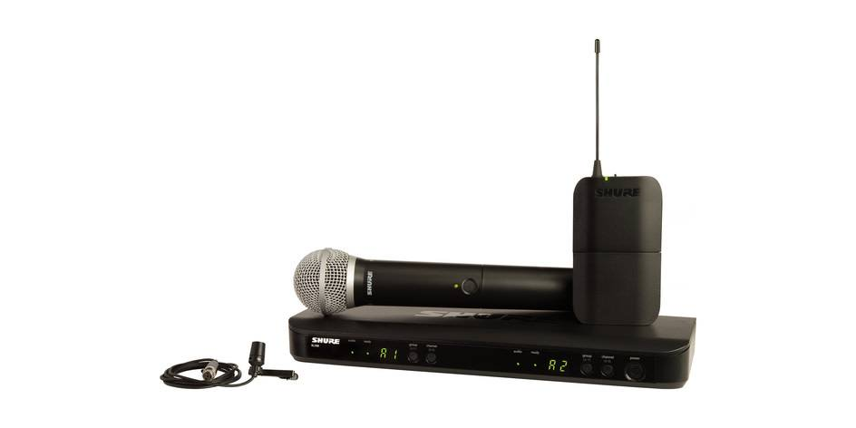 Shure Shure BLX1288, CVL Dual Lavalier with Handheld Combo System