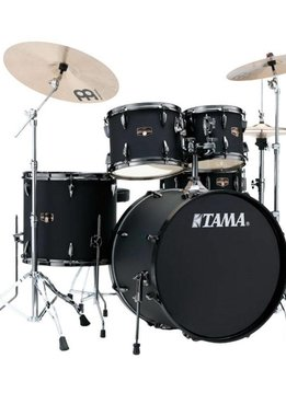 Tama Tama+Imperial+Star+5pc+with+Hardware+and+Cymbals%2c+Blacked+Out+Black