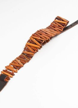 Revo Gordo Style Guitar Strap Tigerwood